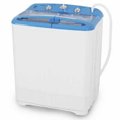 ARKSEN© Portable Mini Small Washing Machine Spin Dryer Laundry, 11LBS, White
