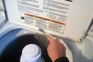 Clean a washing machine-Adding Baking Soda