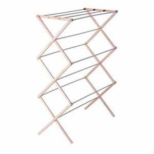 wooden collapsible clothes drying rack