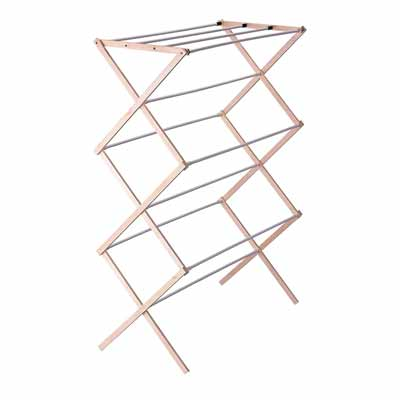 Household Essentials Collapsible Wooden Drying Rack
