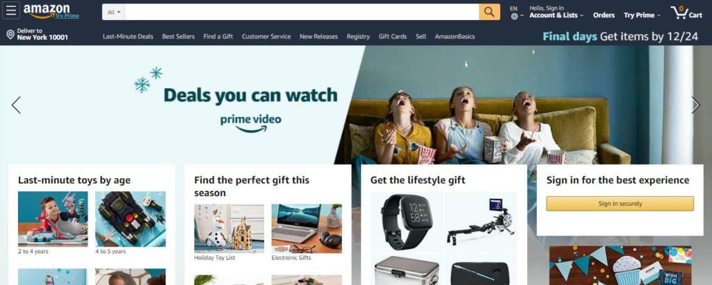 Amazon-Estimated monthly traffic: 2.476 Billion visits