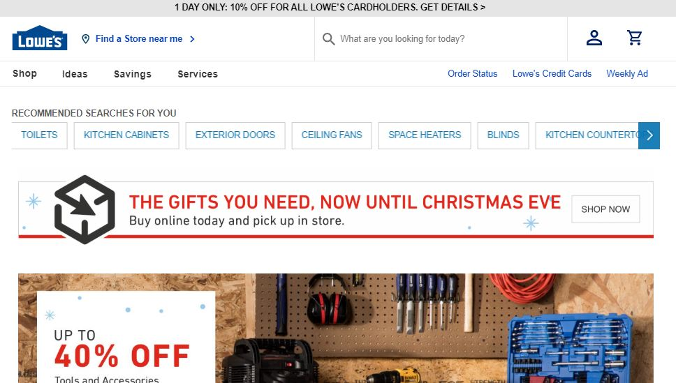 Lowe's is online store which is well known for hardware chain