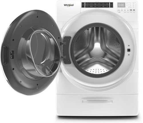 whirlpool washer door is locked