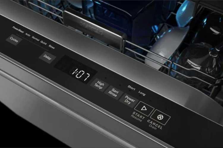 Maytag dishwasher flashing lights or blinking